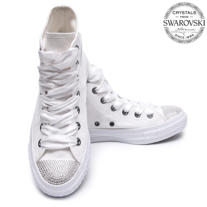 0170f7f06d Converse Swarovski White I High - Shoozers