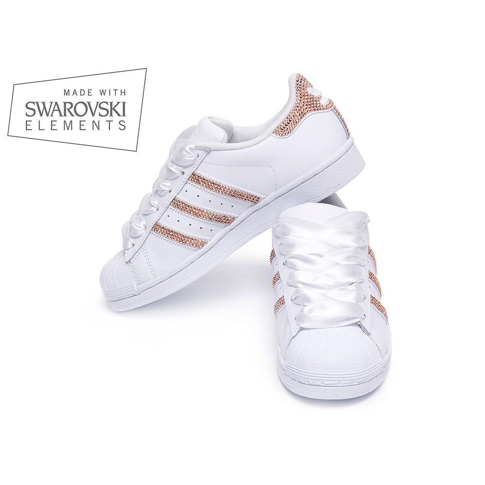 adidas superstar swarovski ii white shoozers shoozers. Black Bedroom Furniture Sets. Home Design Ideas