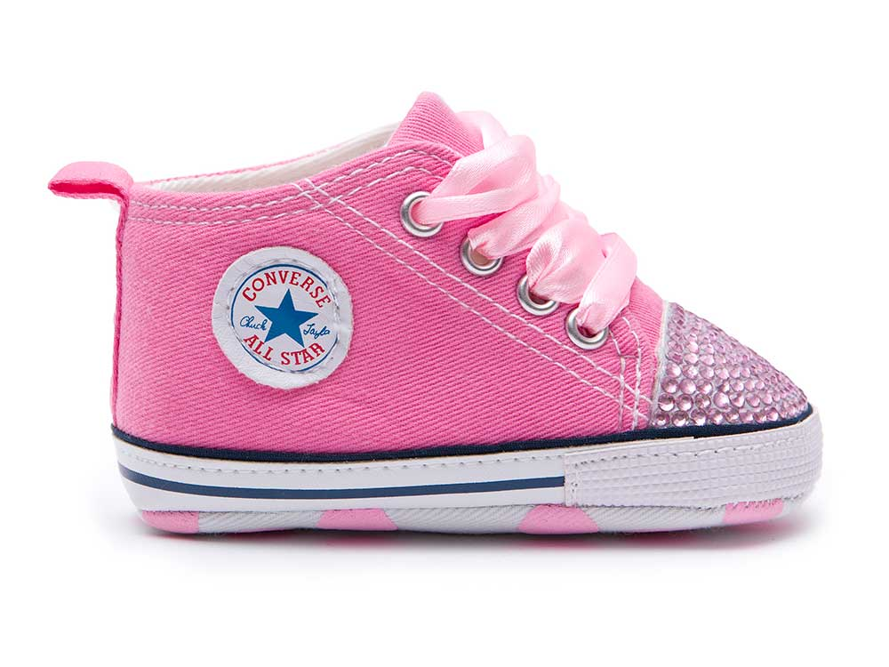 17c0e2f6b0ad2a Baby Converse Pink Shoozers Crystal Shoozers Baby Crystal Converse Pink  Converse q7TwTS4g