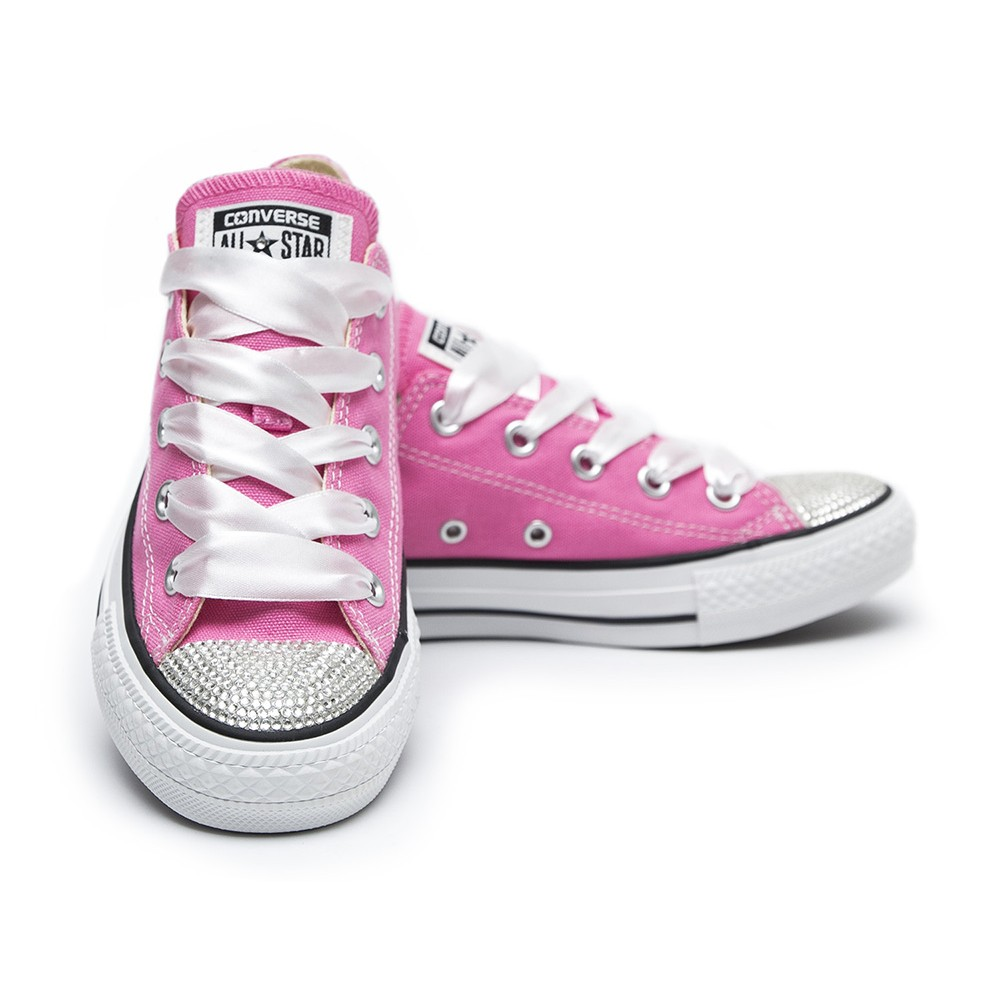 Converse Crystal Pink Low Kids - Shoozers 504f6504295