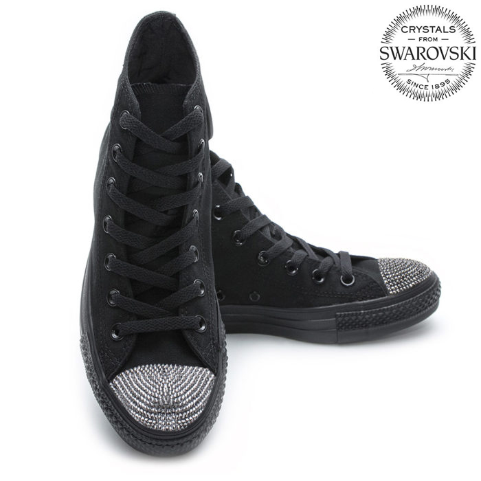 Converse Swarovski High Black Men - Shoozers 1b970977d59