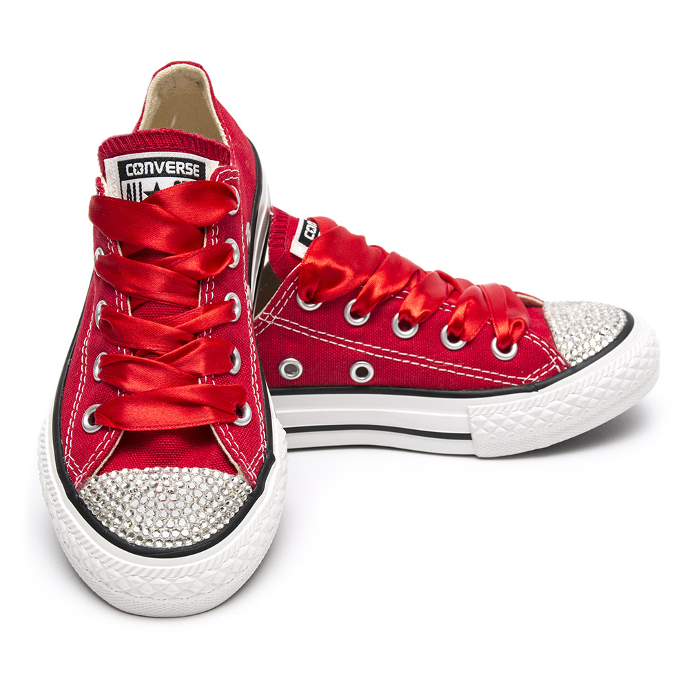 Converse Crystal Red Kids ZĽAVA - Shoozers fb56740608