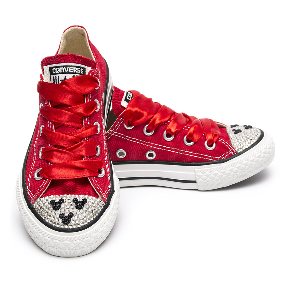 f25c8ac55e Converse Crystal Red Mickey Mouse - Shoozers