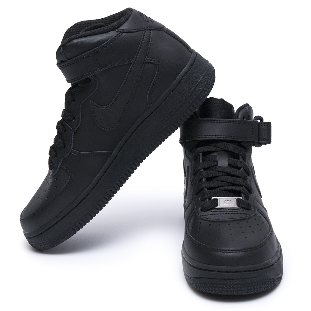 Nike Air Force 1 Leather Black - Shoozers 72825169aed