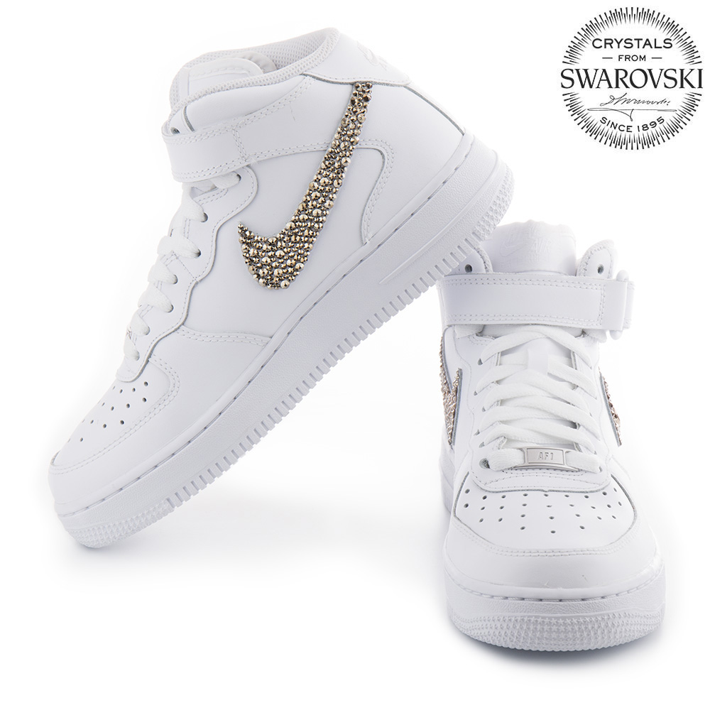 9189da5a39 Nike Air Force 1 Swarovski Skull White - Shoozers