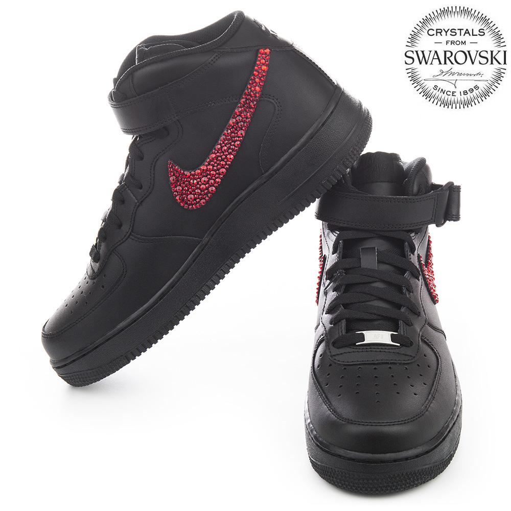 Nike Air Force 1 Black Swarovski Light Siam Men - Shoozers 2a2d7622ab