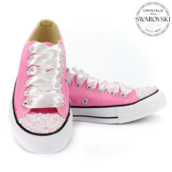 f48bb76c21 129.90€. Converse pink low Pearls Swarovski Edition