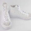 Converse leather white high AB crystal