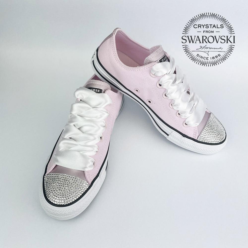 Converse swarovski soft pink